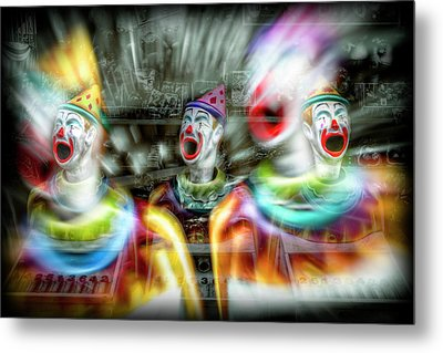 Metal Print featuring the photograph Angry Clowns by Wayne Sherriff