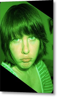 Metal Print featuring the photograph Angry Envy by Jane Autry