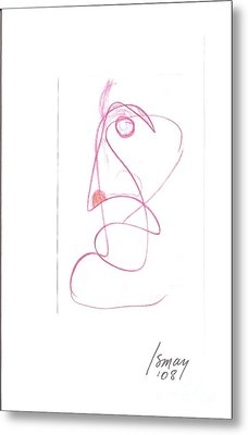 Metal Print featuring the drawing Angry Face - Gesture Drawing by Rod Ismay