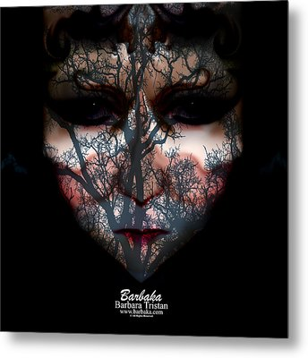 Angry Monster Child #4 Metal Print by Barbara Tristan