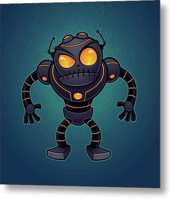 Angry Robot Metal Print by John Schwegel