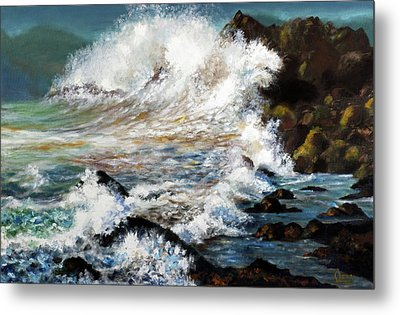 Angry Sea Metal Print by Walter Fahmy