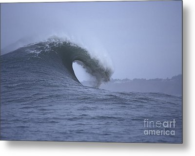 Angry Wave Angry Day Metal Print by Stan and Anne Foster