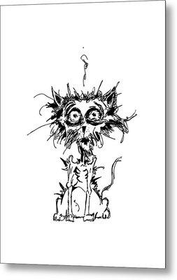 Angst Cat Metal Print