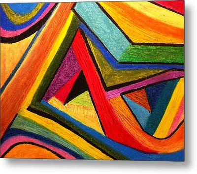 Metal Print featuring the pastel Angular Pull by Polly Castor