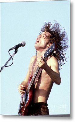 Metal Print featuring the photograph Angus Young Ac/dc 1980 by Chris Walter