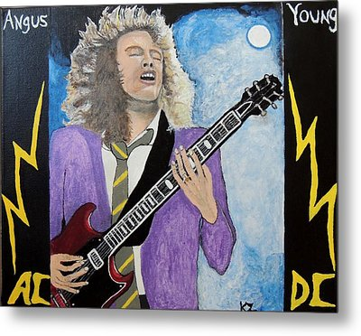 Angus Young Forever. Metal Print by Ken Zabel