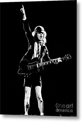 Metal Print featuring the photograph Angus Young Of Ac/dc 1983 by Chris Walter