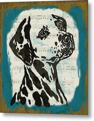 Animal Pop Art Etching Poster - Dog  14 Metal Print by Kim Wang