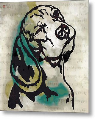 Animal Pop Art Etching Poster - Dog  16 Metal Print by Kim Wang