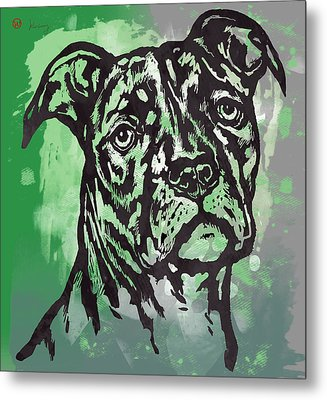 Animal Pop Art Etching Poster - Dog  17 Metal Print by Kim Wang