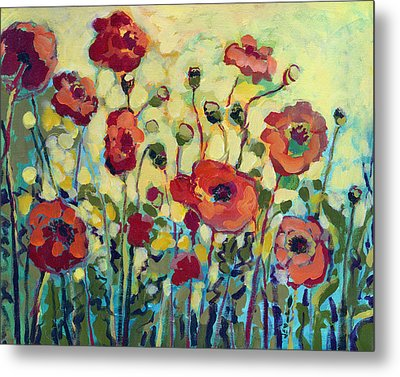 Anitas Poppies Metal Print