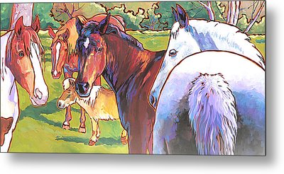 Anjelica Huston's Horses Metal Print by Nadi Spencer