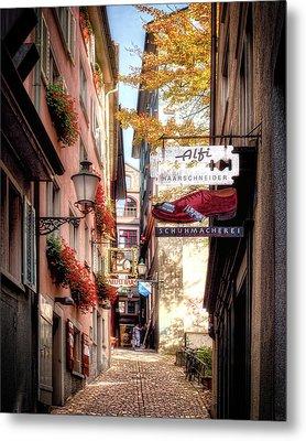 Ankengasse Street Zurich Metal Print