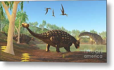 Ankylosaurus Metal Print by Corey Ford