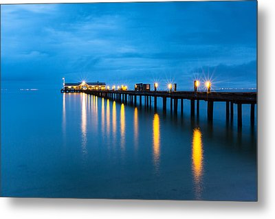 Metal Print featuring the photograph Anna Maria City Pier by Patrick Downey