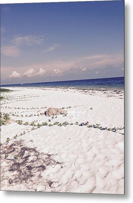 Metal Print featuring the photograph Anna Maria Island Beyond The White Sand by Jean Marie Maggi