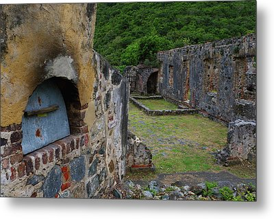Metal Print featuring the photograph Annaberg Sugar Mill Ruins At U.s. Virgin Islands National Park by Jetson Nguyen