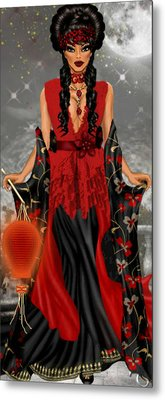 Metal Print featuring the digital art Annamia by Digital Art Cafe