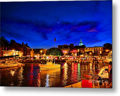 Annapolis Magic Night Metal Print by Olivier Le Queinec