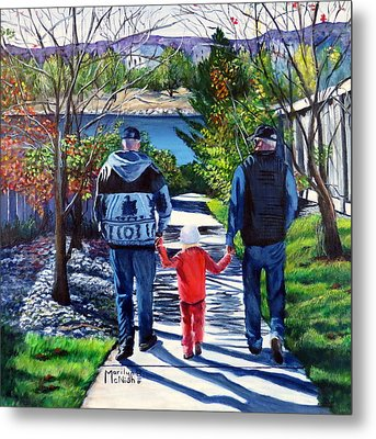 Anna's Grandpa's 2 Metal Print by Marilyn McNish
