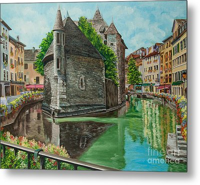 Annecy-the Venice Of France Metal Print by Charlotte Blanchard