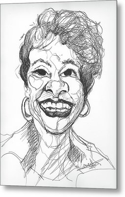 Annette Caricature Metal Print