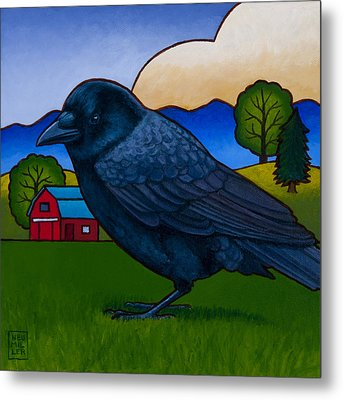 Anns Crow Metal Print by Stacey Neumiller