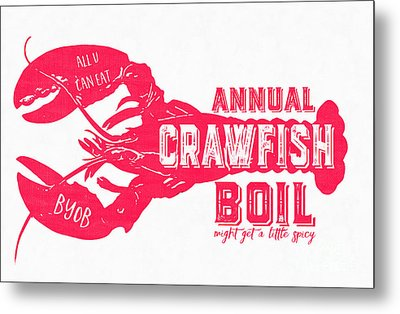 Annual Crawfish Boil Poster Metal Print