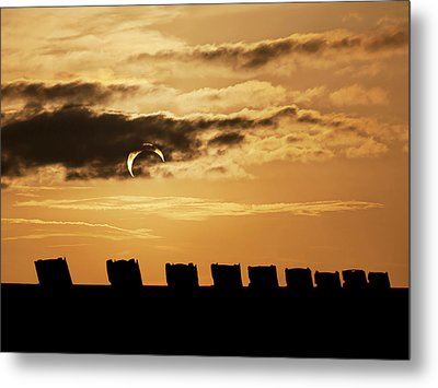 Annular Eclipse Over Cadillac Ranch Metal Print