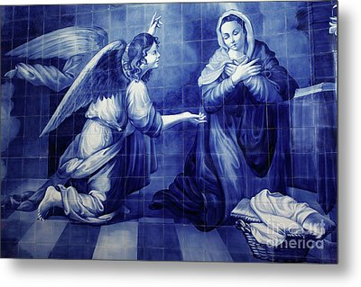 Annunciation Metal Print by Gaspar Avila