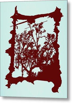 Another Creepy Tree Metal Print by Kristin Sharpe