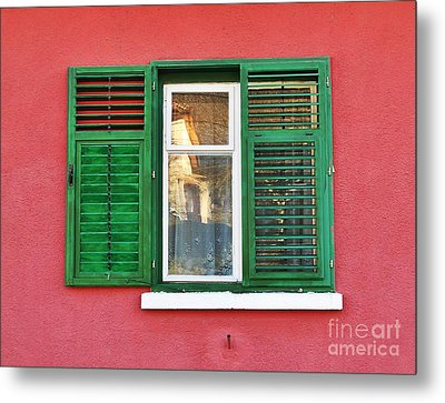 Another Green Shutter Metal Print