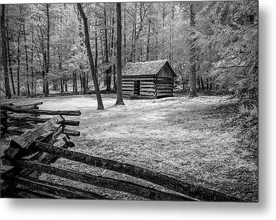Another Isolated Cabin Metal Print by Jon Glaser