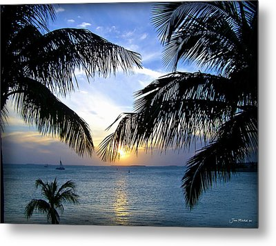 Another Key West Sunset Metal Print by Joan  Minchak