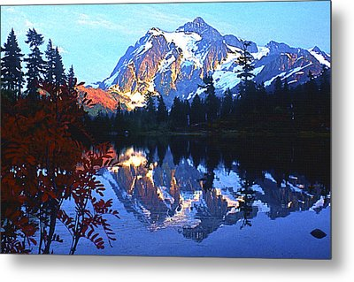 Another Shuksan Reflection Metal Print by Todd Kreuter
