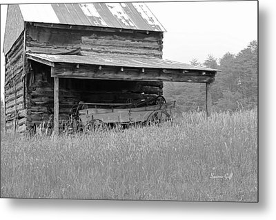 Another Time -- Black And White Metal Print by Suzanne Gaff