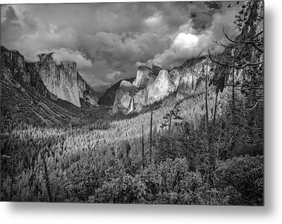 Metal Print featuring the photograph Ansel Adams Inspired Yosemite Tunnel View by Scott McGuire
