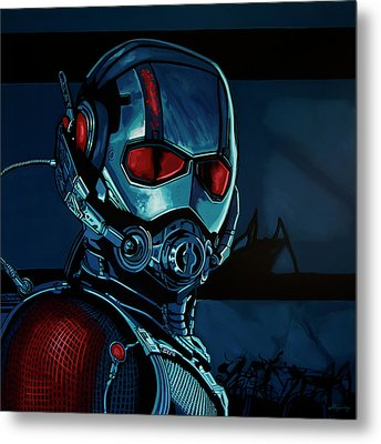 Ant Man Painting Metal Print by Paul Meijering