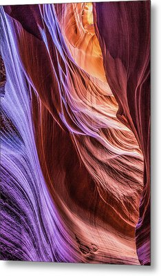 Antelope Canyon Air Glow Metal Print