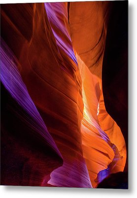 Antelope Canyon Color Metal Print