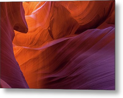 Antelope Canyon Fire Metal Print