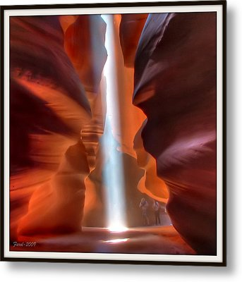 Antelope Canyon Light Metal Print by Farol Tomson