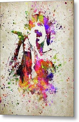 Anthony Kiedis In Color Metal Print