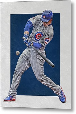 Anthony Rizzo Chicago Cubs Art 1 Metal Print by Joe Hamilton