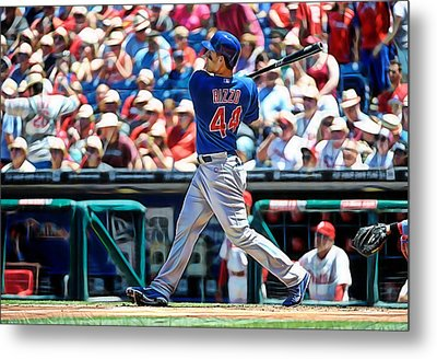 Anthony Rizzo Metal Print by Marvin Blaine
