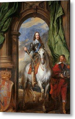 Anthony Van Dyck - Charles I With M. De St Antoine Metal Print by Anthony van Dyck