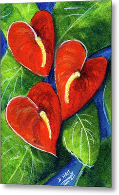 Anthurium Flowers #272 Metal Print by Donald k Hall