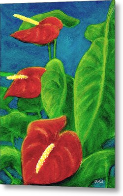 Anthurium Flowers #296 Metal Print by Donald k Hall