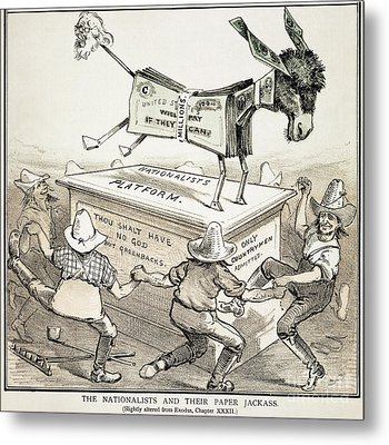 Anti-greenback Cartoon Metal Print by Granger